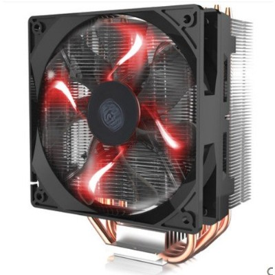 "Cooler Master Blizzard t400 – CPUクーラーwith XtraFlo 120 "" Fire Red"" LED PWMファン& 4直接接触Heatpipes –..."