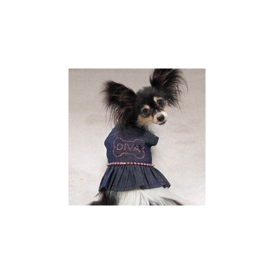 Casual Canine Denim Sundress (Small) by Casual Canine