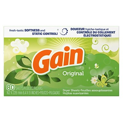 Gain Dryer Sheets, Original, 80 count, (Pack of 3) by GAIN