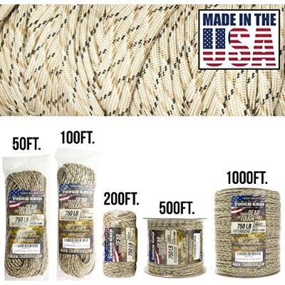 (60m (WOUND ON TUBE), Desert Camo) - TOUGH-GRID 340kg Paracord / Parachute Cord - This Is The...
