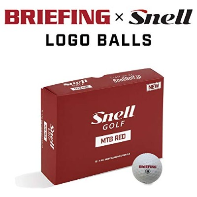 BRIEFING X Snell Golf MTB RED-白(1箱12個入り) ブリーフィングロゴ日本正規品スネルゴルフ MTBレッドW-BRFG