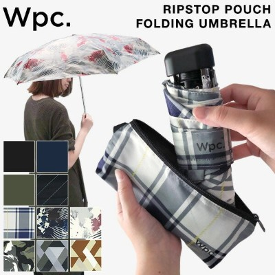 WPC RIPSTOP POUCH FOLDING UMBRELLA 折りたたみ傘 ポーチ付き 晴雨兼用 [傘 折り畳み傘 軽量 軽い コンパクト 大きい 男女兼用 雨具 雨傘 日傘 UVカット...