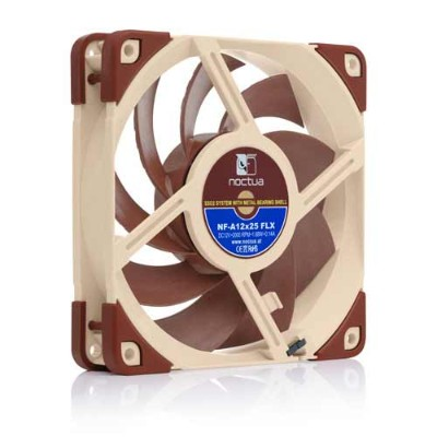 Noctua NF-A12x25 FLX 120mmケースファン 3pinコネクタ/回転数固定モデル/120x120x25 mm