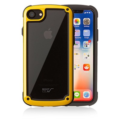 【ROOT CO.】 iPhone8 iPhone7 米軍 MIL規格 Gravity Shock Resist Tough & Basic Case. (イエロー)