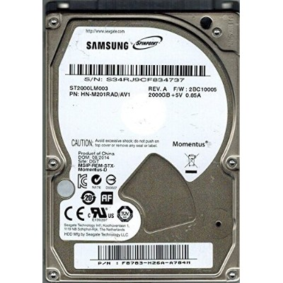 Seagate Mobile 2.5inch 9.5mm SATA 6Gb/s 2TB 5400rpm 32MBキャッシュ  ST2000LM003