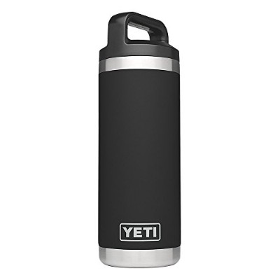 YETI (イエティ) Rambler 18oz Vacuum Insulated Stainless Steel Bottle with Cap [並行輸入品]  (Black)