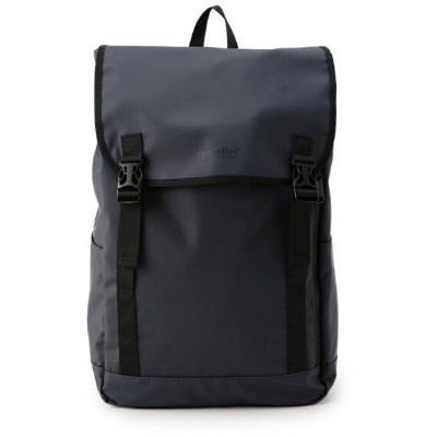 Beige black Anello AT-B0197B BEB small backpack with side pocket F//S