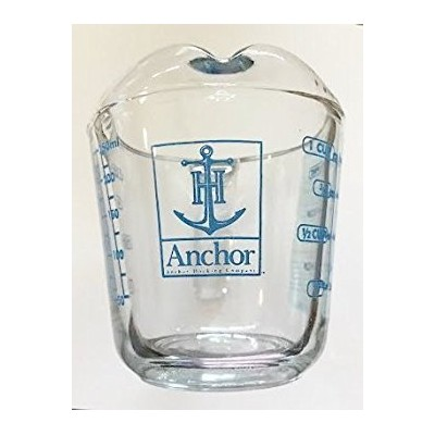 Anchor Hocking Limited Edition Blue Lettering 1 Cup Glass Measuring Cup