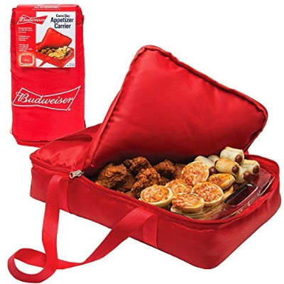 Budweiser Insulated Casserole Carrier- Game Day Appetiser Carrier - Portable Travel Tote (28cm x...