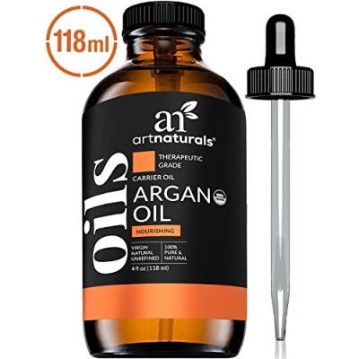 ArtNaturals Organic Argon Oil for Hair, Face and Skin, Grade A Triple Extra Virgin Cold Pressed 4...