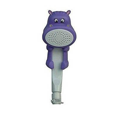 ConservCo Fun & Adorable Bath & Shower Wand for Kids - Hippie the Hippo - Purple by Rubber Duckie &...
