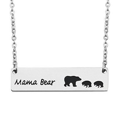 wusuaned Sweet Mama Bear andカブスバーネックレスキーチェーンギフトfor Momおばあちゃん妻