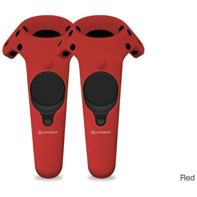 HYPERKIN ハイパーキン VR機器用シリコン保護ケース Gelshell Wand Silicone Skin for HTC VIVE (2pcs/pack)-Red M07201-RD...