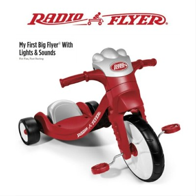 #402 RADIO FLYER 三輪車 My First Big Flyer with Light & Sounds Tricycle キックカー 足けり乗用玩具 キッズ 誕生日 プレゼント...