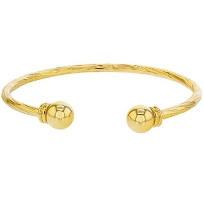 Twisted Cable Cuff Gold Plated 18k Infants Baby Bangle Bracelet Girl Child's