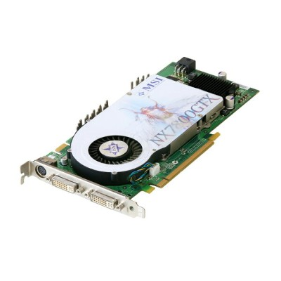 MSI GeForce 7800 GTX 256MB DVI*2/TV-out PCI Express x16 NX7800GTX-VT2D256E【中古】【送料無料セール中! (大型商品は対象外)】