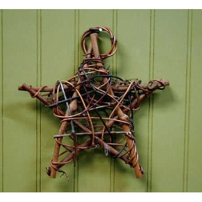 Rustic Natural Twig Star Ornaments- Set of 4 by Darice