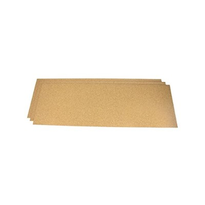 Cork Shelf Liners Plain 24 IN X 36 IN X 1/16 IN - 3 PACK by Cleverbrand