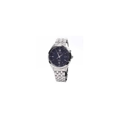 セイコー 腕時計 メンズ SKA655P1 Seiko Men's SKA655 Silver Stainless-Steel Seiko Kinetic Watch with Blue...