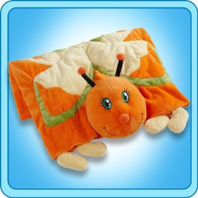 Genuine Ultra Soft My Pillow Pet ORANGE BUTTERFLY BLANKET by Pillow Pets
