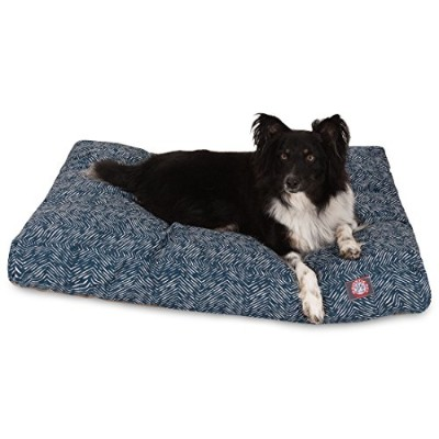 Majestic Pet Teal Native Rectangle Indoor Outdoor Pet Dog Bed with Removable Washable Cover...