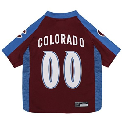 NHL Colorado Avalanche Jersey for Dogs & Cats, X-Large. - Let Your Pet be a Real NHL Fan! 141[並行輸入]