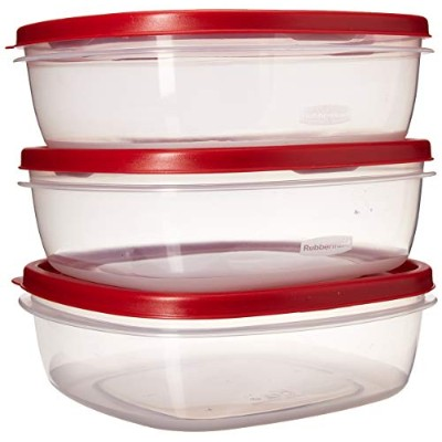 Rubbermaid 7J71 Easy Find Lid Square 9-Cup Food Storage (Containers) by Rubbermaid
