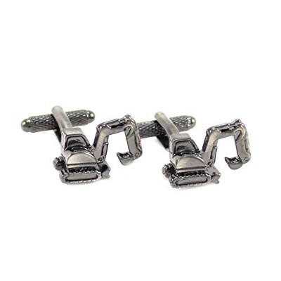 mendepot Construction Vehicle Cufflinks WithギフトボックスMini Excavatorカフリンク