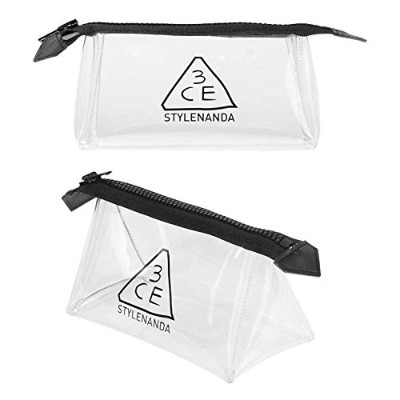 3CE クリアポーチ CLEAR POUCH SMALL #BLACK [並行輸入品]
