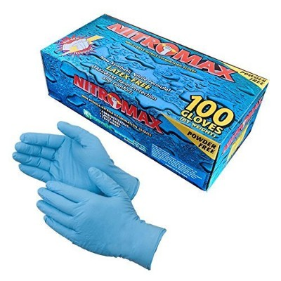 Disposable Gloves, 5 mil thick, Tear Resistant, Latex Free, Nitrile, Powder Free, Large, 100 count...