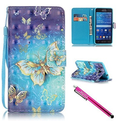 (For Samsung Galaxy Grand Prime G530 G530H G5308, Butterfly) - G530 Case, Galaxy Grand Prime Case,...
