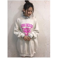 【SALE 17%OFF】RODEO CROWNS WIDE BOWL LONGBEACHカレッジワンピース ライトモクグレー