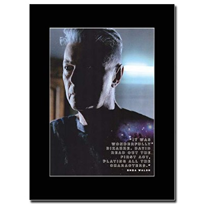 - David Bowie - All The Characters - つや消しマウントマガジンプロモーションアートワーク、ブラックマウント Matted Mounted Magazine...