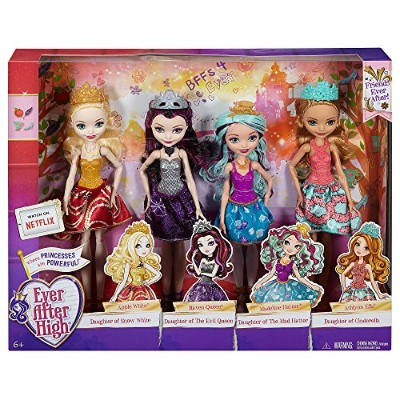 エバーアフターハイ 人形 ドール Ever After High Dolls 4 Pack - Raven Queen, Apple White, Madeline Hatter, Ashlyn...
