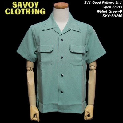 SAVOY CLOTHINGサボイクロージング◆SVY Good Fellows 2nd Open Shirts◆◆Mint Green◆SVY-SH246