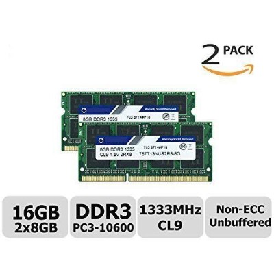 TT-Timetec Hynix IC 16 GB Kit (2x8GB) ノートPC用メモリ DDR3 1333 MHz PC3 10600 204 Pin SODIMM Laptop...