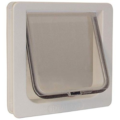 Ideal Pet Products 6.25-by-6.25-Inch Lockable Cat Flap with Telescoping Frame by Ideal Pet Products