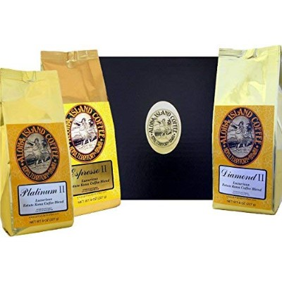 Best Coffee of the Month Club Gift, Six Months Variety of Luxurious Kona Coffee Blend, Whole Bean,...