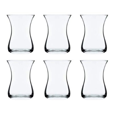Classic Turkish Tea Glasses, 5 1/4 Ounce - Set of 6 by Red Co.