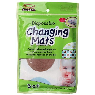 Disposable Leakproof Baby Changing Pads, for Home or Travel, 1 Pack of 3 Mats by Parents