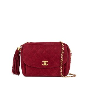 Chanel Pre-Owned タッセル ショルダーバッグ - レッド