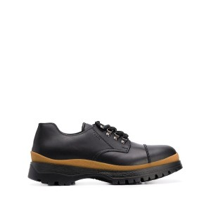 Prada chunky sole lace-up shoes - ブラック