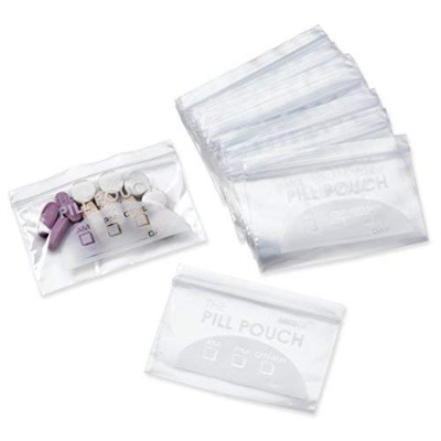 "Pill Bag Pouch, Reusable Plastic Pill Organizer Bags, Size 3"" X 2"" 3 Mil (Pack of 100)"
