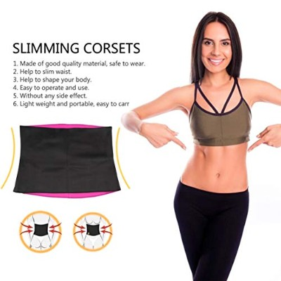 Women Adult Solid Neoprene Healthy Slimming Weight Loss Waist Belts Body Shaper Slimming Trainer...
