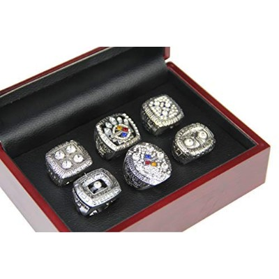 gf-sportsストアのセット6 Pittsburgh Steelers Super Bowl Championshipレプリカリングby表示ボックスset-variousサイズCollectibl...
