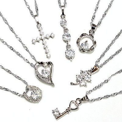 One&Only Jewellery 【特選福袋】 豪華7点セット キュービックジルコニア ネックレス ペンダント K18GP