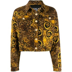 Versace Jeans Couture レオパード ジャケット - イエロー