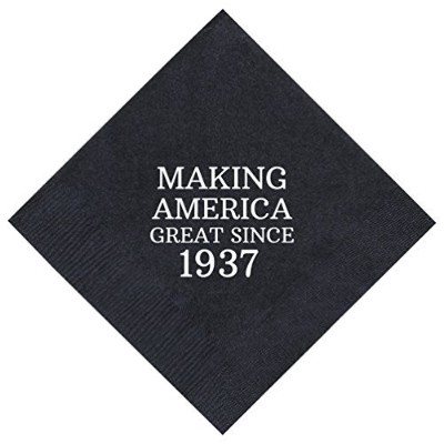80th Birthday Gifts Making America Great Since 1938 80th Birthday Party Supplies 50 Pack 13cm x...