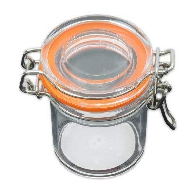 Small Round Acrylic Spice Jar with Clasp Lid - 35085