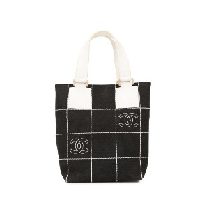 Chanel Pre-Owned ステッチ トートバッグ - ブラック
